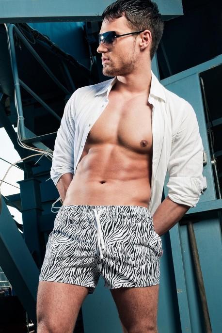 Alpha Male Hydro zebra swim-shorts