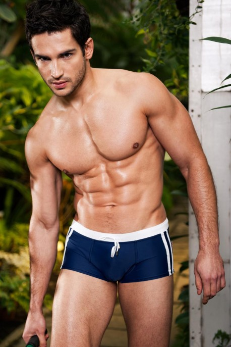 Alpha Male Sacco navy beachwear trunks