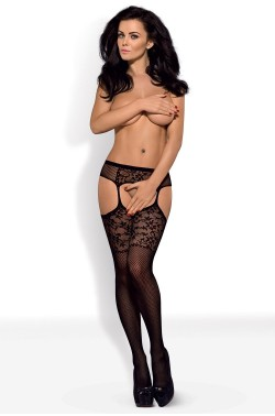 Fishnet Obsessive Garter stockings S211