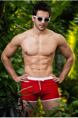Alpha Male Verso red beachwear trunks