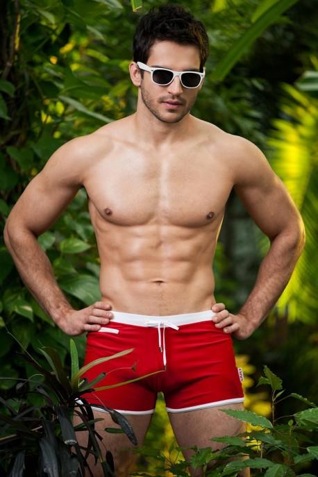 Alpha Male Verso red beachwear trunks