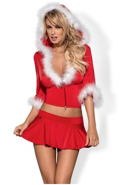 Costume Obsessive Santa Lady skirty set