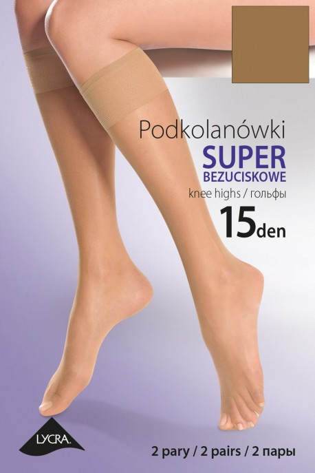 Knee-highs Gabriella 15 Den Lycra Code 504