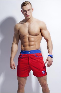 Swim-shorts Alpha Male Surfo red