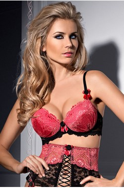 Axami V-4851 Berry Mousse push-up bra